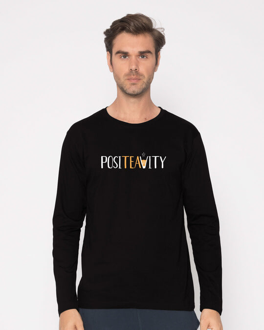 Shop Positivity Full Sleeve T-Shirt-Front
