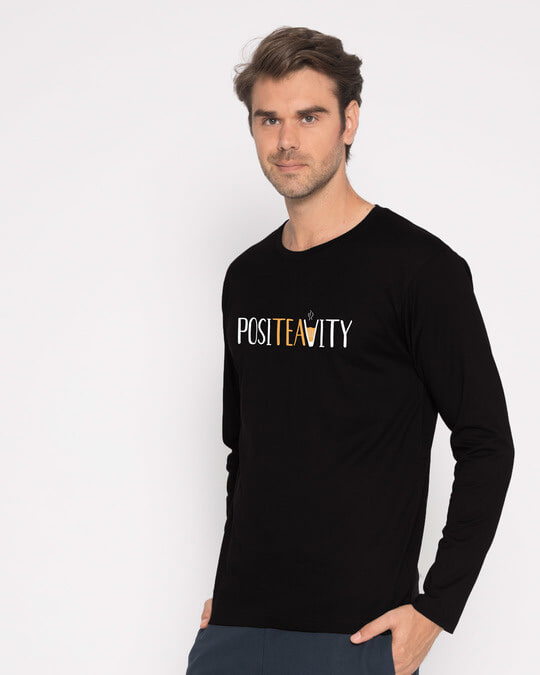 Shop Positivity Full Sleeve T-Shirt-Back