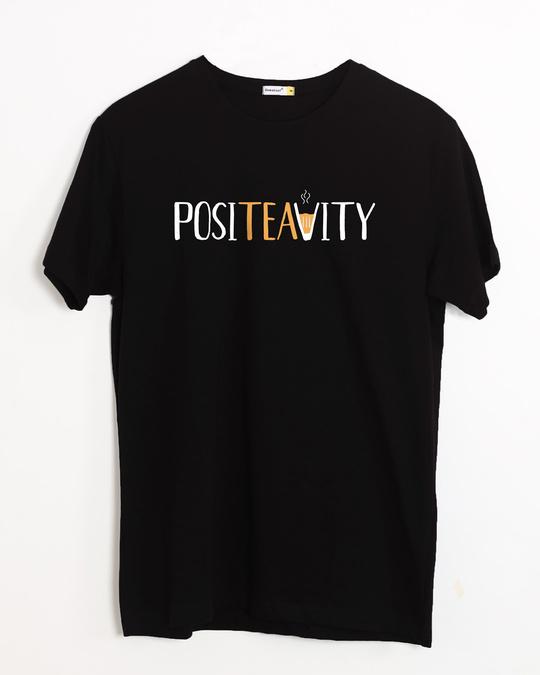 Shop Positivity Half Sleeve T-Shirt-Front