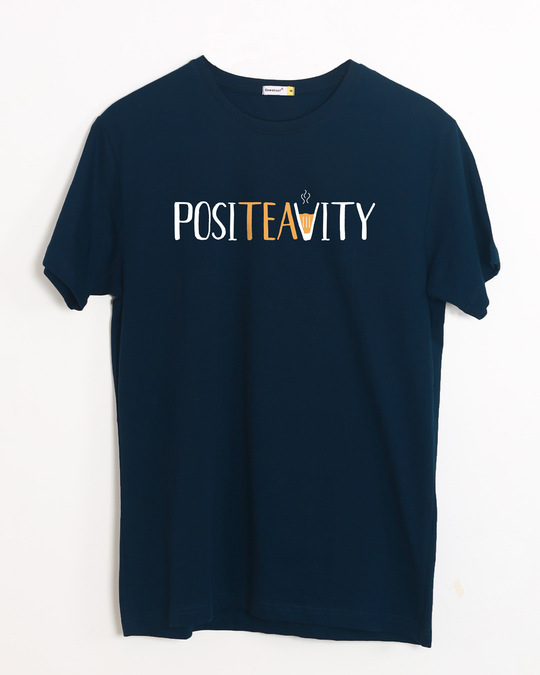 Shop Positivity Half Sleeve T-Shirt-Front