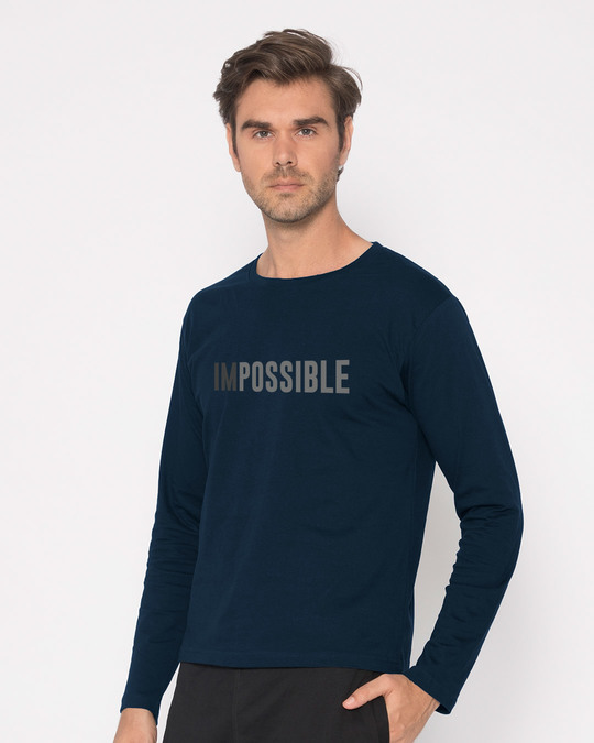 Shop Possible Full Sleeve T-Shirt-Back