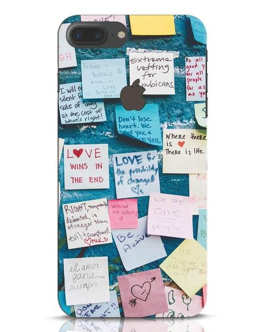 Shop Post It Up iPhone 7 Plus Logo Cut Mobile Cover-Front
