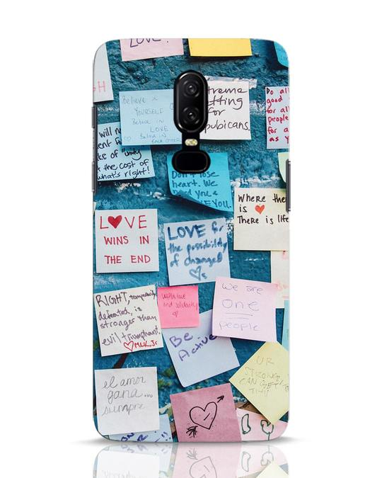 Shop Post It Up OnePlus 6 Mobile Cover-Front