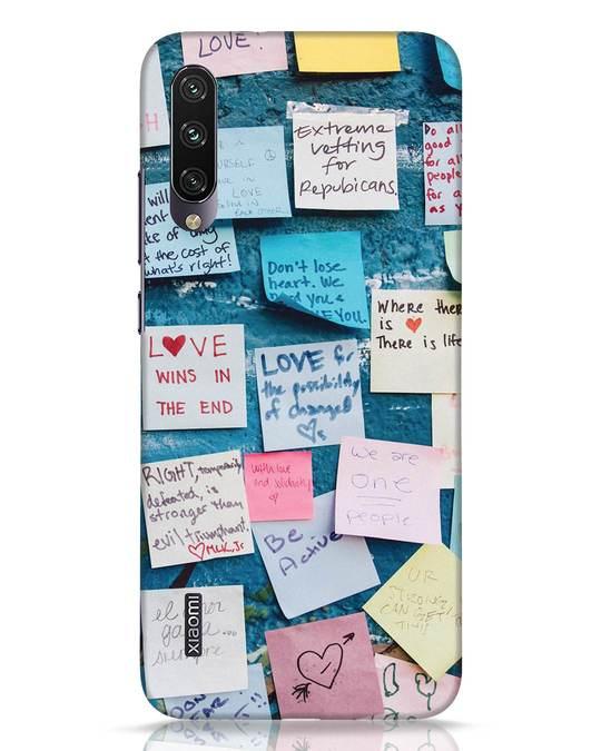 Shop Post It Up Xiaomi Mi A3 Mobile Cover-Front