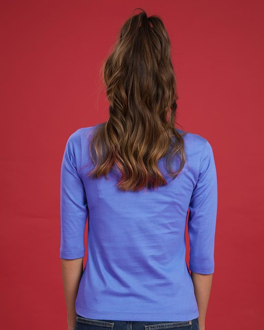 Shop Powered By Chai Round Neck 3/4th Sleeve T-Shirt-Back