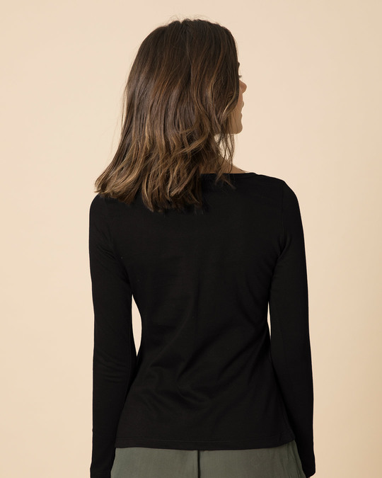 Shop Powered By Chai Scoop Neck Full Sleeve T-Shirt-Back