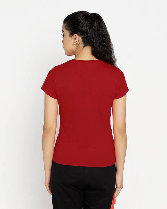 Shop Powered By Coffee Half Sleeve T-Shirt Bold Red-Design