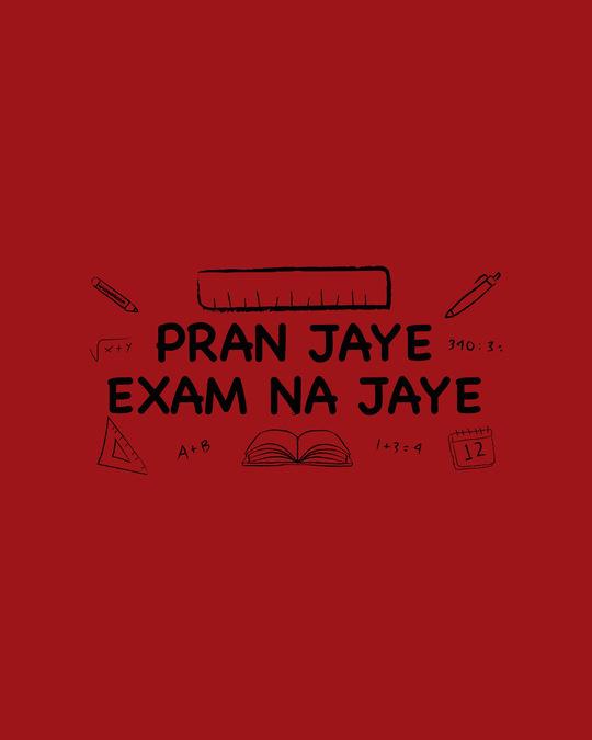 Shop Pran Aur Exams Full Sleeve T-Shirt Bold Red