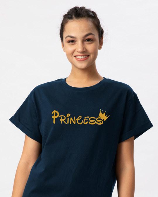 Shop Princess Girl Boyfriend T-Shirt-Front