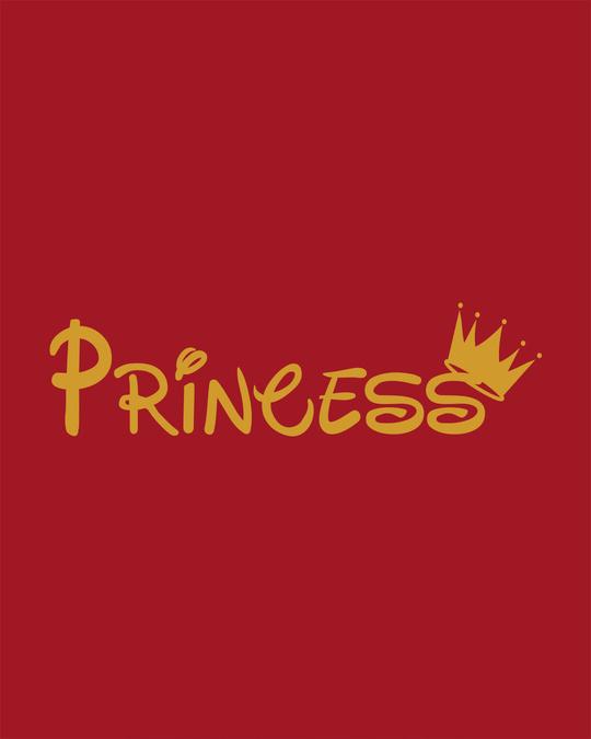 Shop Princess Girl Round Neck 3/4th Sleeve T-Shirt-Full
