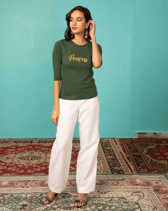 Shop Princess Round Neck 3/4th Sleeve T-Shirt-Full
