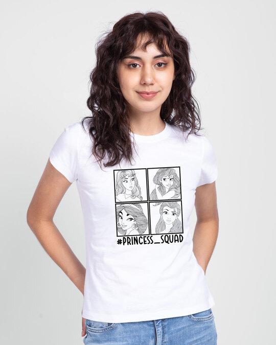 Shop Princess Squad Half Sleeve Printed T-shirt-Back