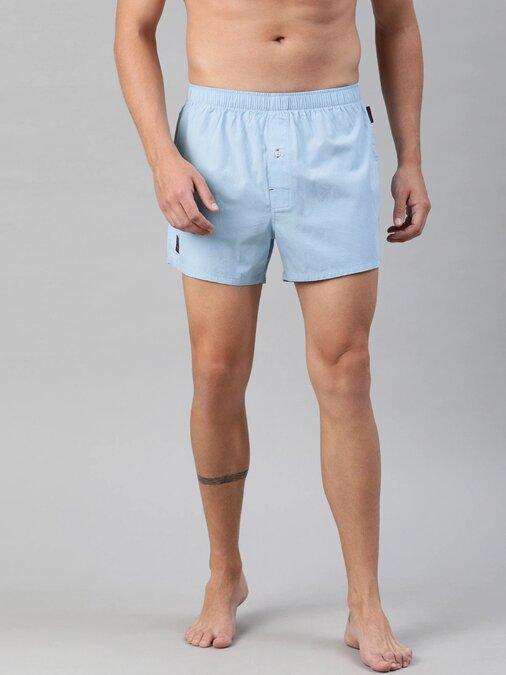 Shop Printed Boxers Mens ( Pack Of 2 )-Back