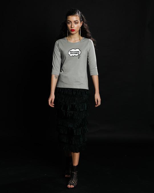 Shop Professional Overthinker Round Neck 3/4th Sleeve T-Shirt-Full