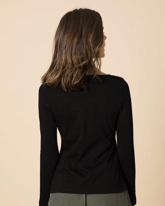Shop Proper Patola Scoop Neck Full Sleeve T-Shirt-Back