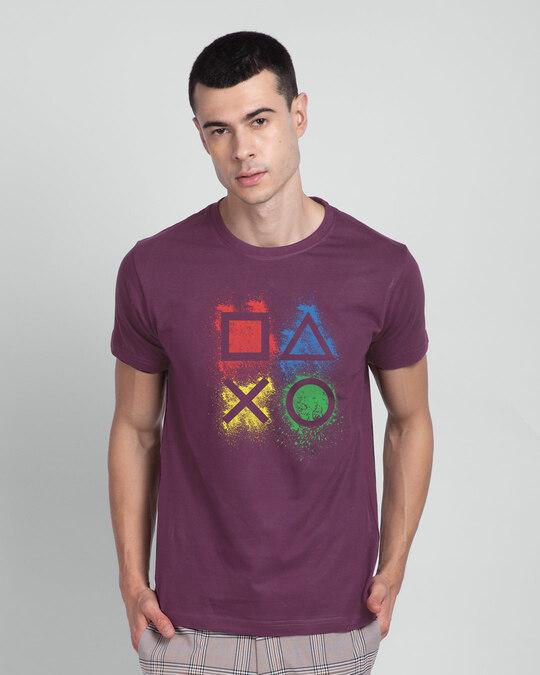 Shop Ps Buttons Half Sleeve T-Shirt-Front