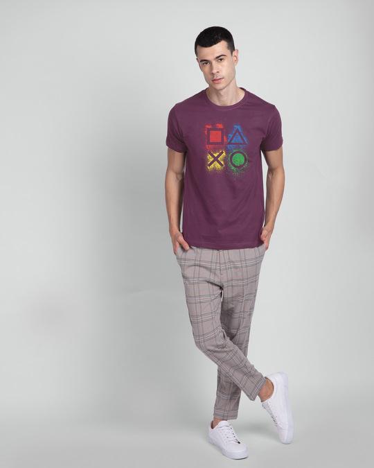 Shop Ps Buttons Half Sleeve T-Shirt-Design