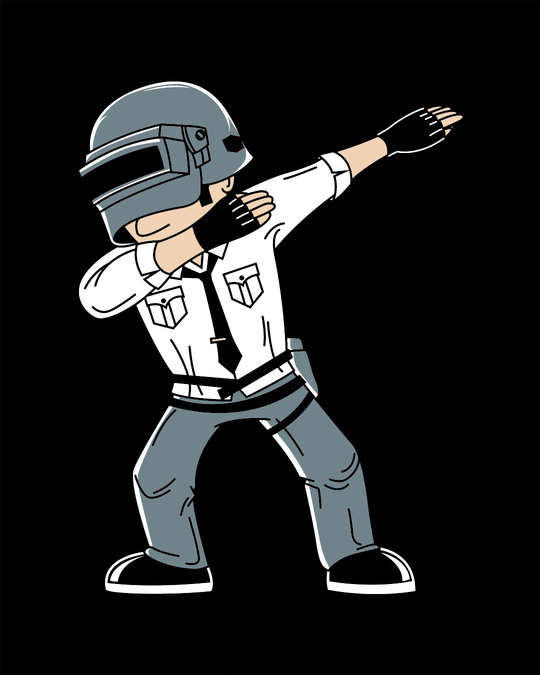 Shop Pubg Dab Half Sleeve T-Shirt