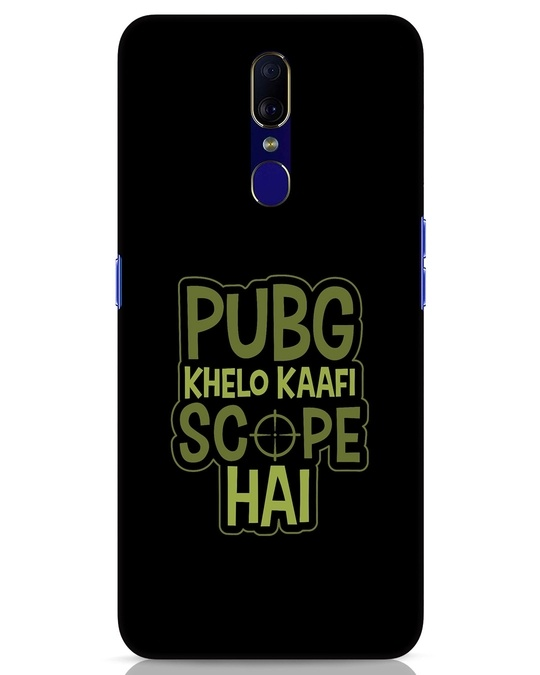 Shop Pubg Khelo Oppo F11 Mobile Cover-Front