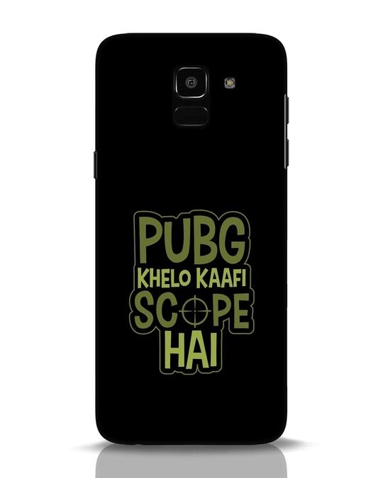 Shop Pubg Khelo Samsung Galaxy J6 Mobile Cover-Front
