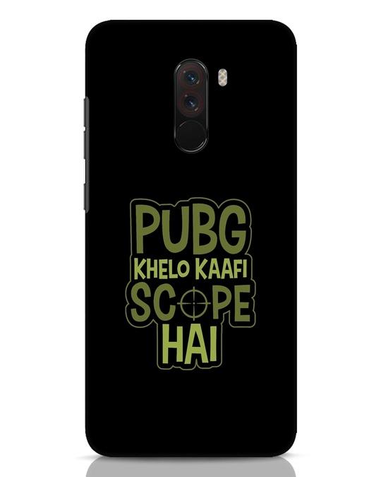 Shop Pubg Khelo Xiaomi POCO F1 Mobile Cover-Front