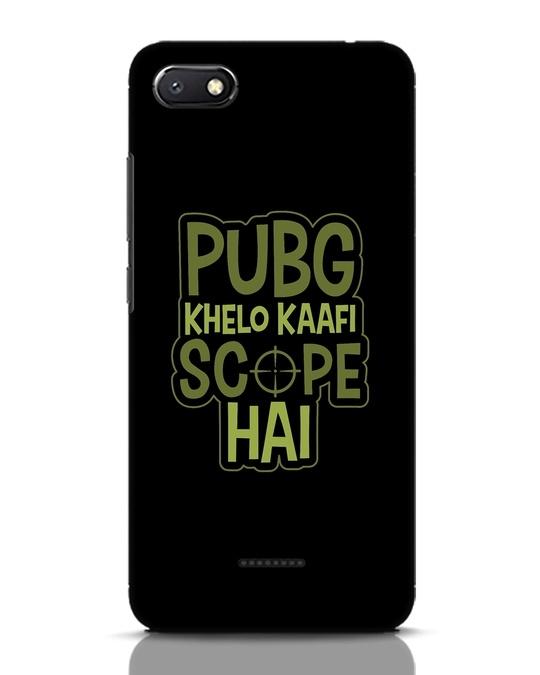 Shop Pubg Khelo Xiaomi Redmi 6A Mobile Cover-Front