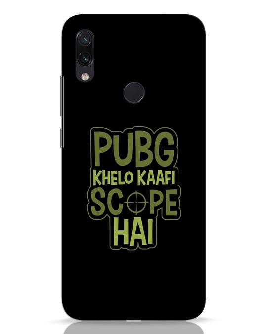 Shop Pubg Khelo Xiaomi Redmi Note 7 Pro Mobile Cover-Front