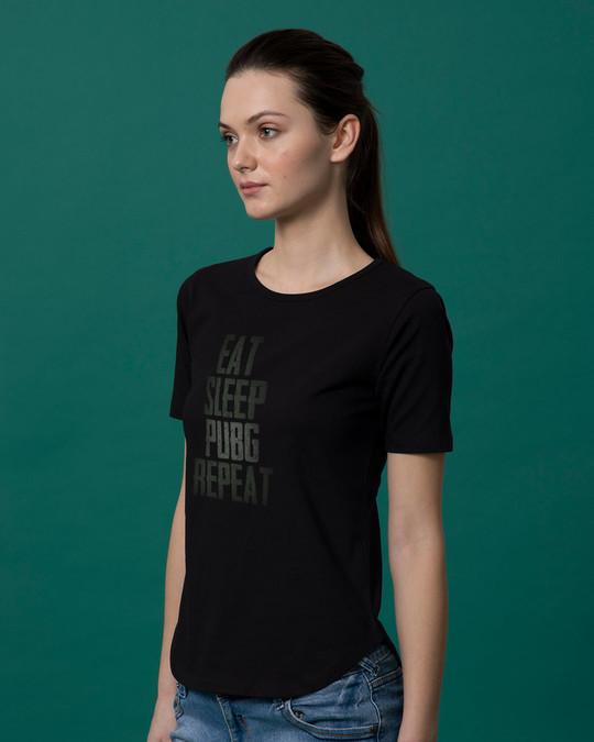 Shop Pubg Repeat Basic Round Hem T-Shirt-Back