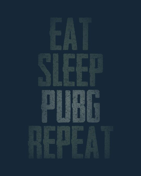 Shop Pubg Repeat Basic Round Hem T-Shirt