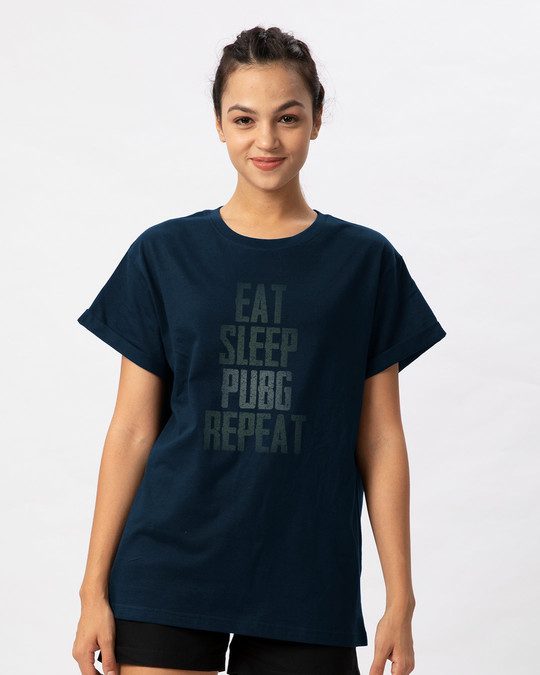 Shop Pubg Repeat Boyfriend T-Shirt-Front