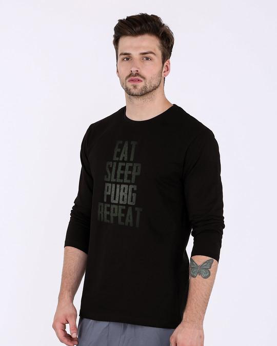 Shop Pubg Repeat Full Sleeve T-Shirt-Back