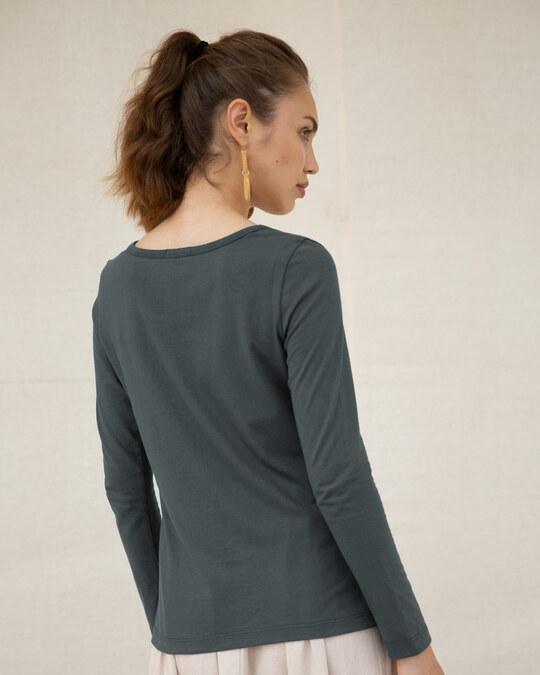 Shop Puddin Scoop Neck T-Shirt (BML)-Back