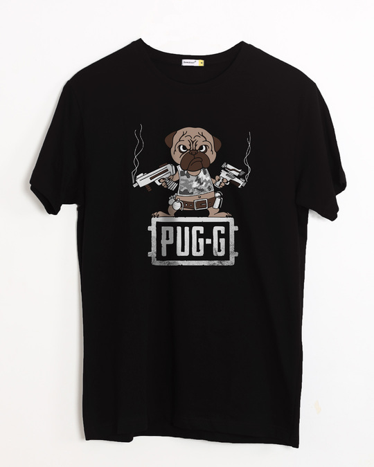 Shop Pug G Half Sleeve T-Shirt-Front