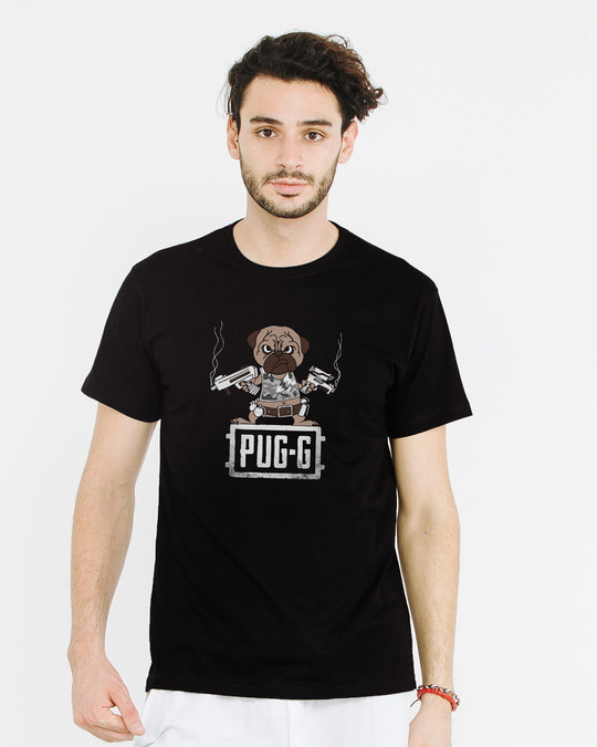 Shop Pug G Half Sleeve T-Shirt-Back