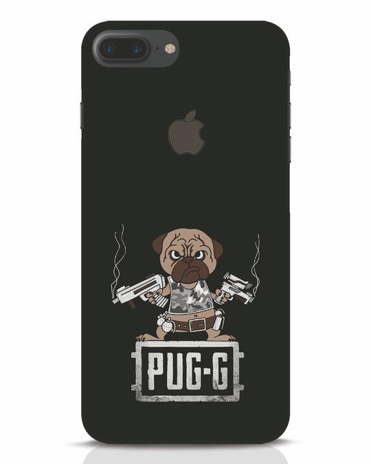 Shop Pug G iPhone 7 Plus Logo Cut Mobile Cover-Front