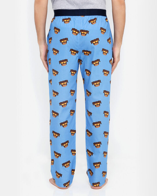 Shop Smugglerz Pug Pyjamas Blue-Design
