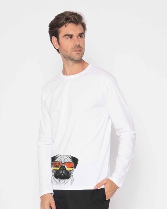 Shop Pug Vacation Full Sleeve T-Shirt-Back