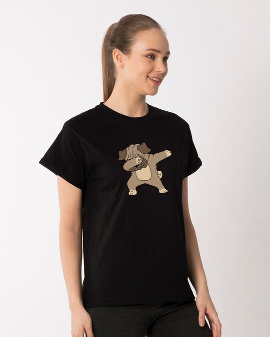 Shop Pugla Boyfriend T-Shirt-Back