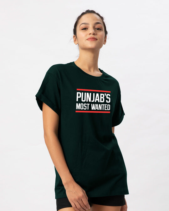 Shop Punjab's Most Wanted Boyfriend T-Shirt-Back