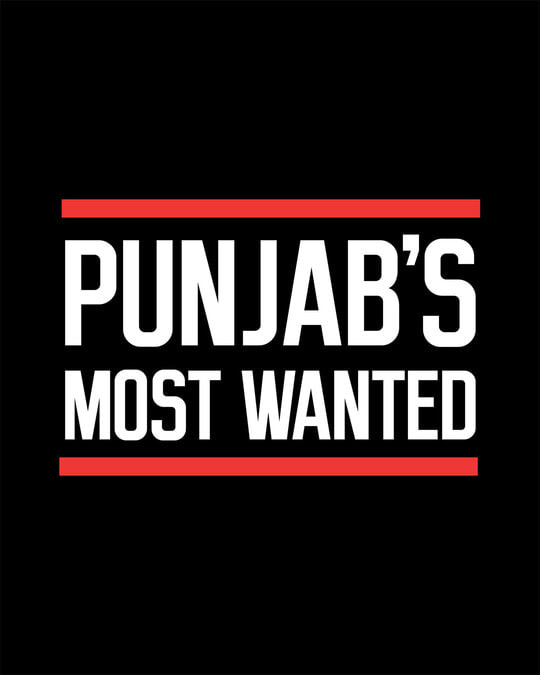 Shop Punjab's Most Wanted Half Sleeve T-Shirt