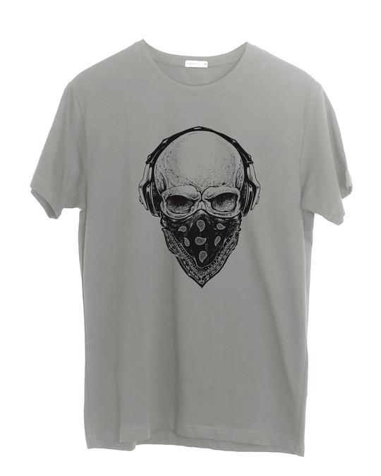 Shop Punk Skull Half Sleeve T-Shirt-Front
