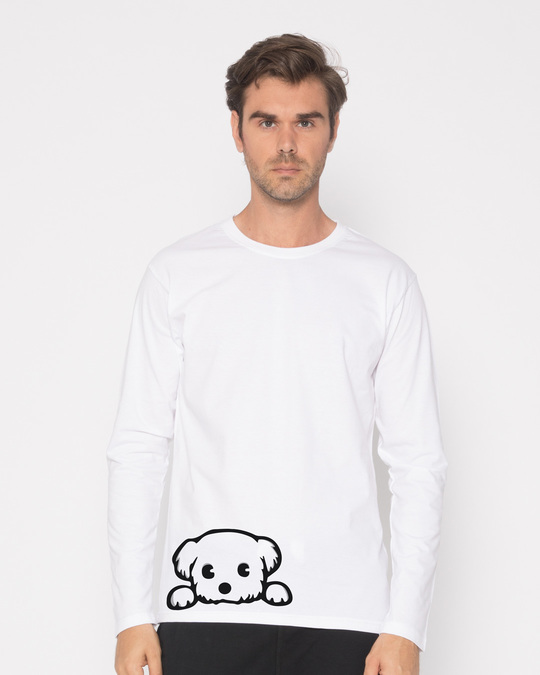Shop Pup Full Sleeve T-Shirt-Front