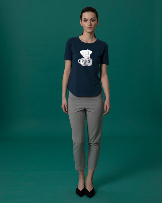 Shop Pup Of Tea Basic Round Hem T-Shirt