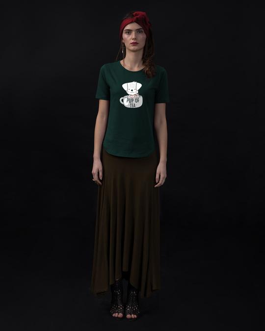 Shop Pup Of Tea Basic Round Hem T-Shirt-Full
