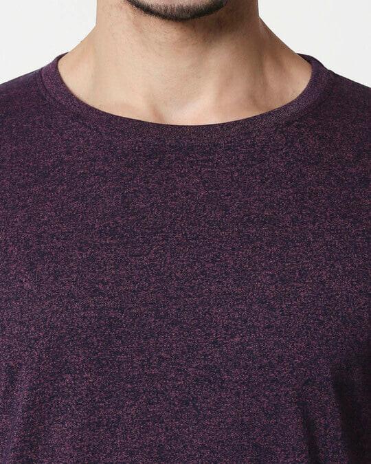 Shop Purple Half Sleeve Grindle T-Shirt