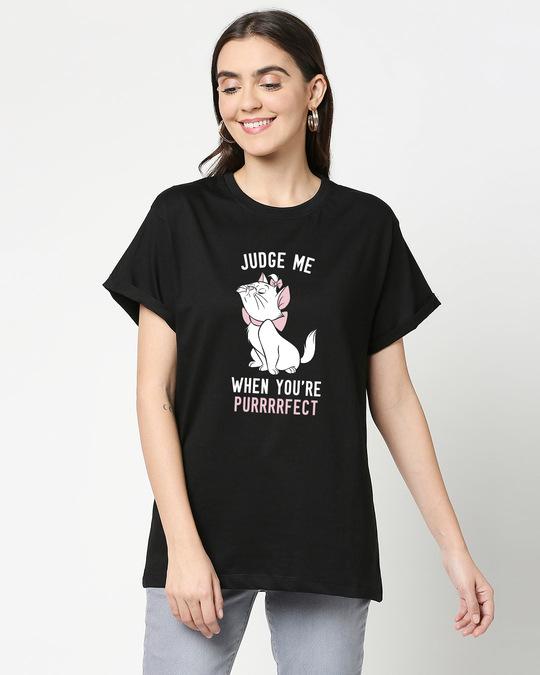 Shop Purrfect Cat Boyfriend T-Shirt-Front