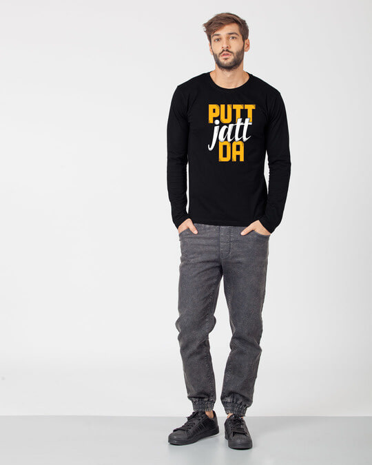 Shop Putt Jatt Da Full Sleeve T-Shirt-Full