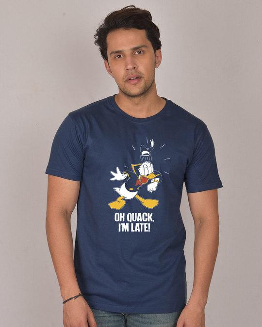 Shop Quack I'm Late Half Sleeve T-Shirt (DL)-Back