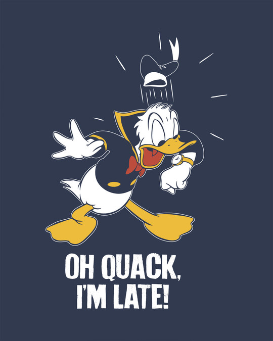 Shop Quack I'm Late Half Sleeve T-Shirt (DL)