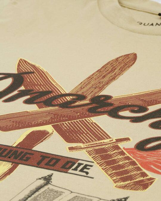 Shop Mens Plus Size Beige Organic Cotton Half Sleeves T Shirt